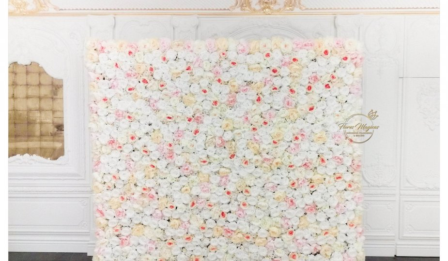 Gėlių foto siena